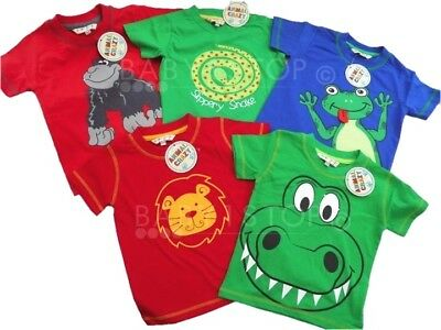 Boys Girls Animal Tshirt Choice of 8 Novelty Designs Ages 6 Months to 6 Years