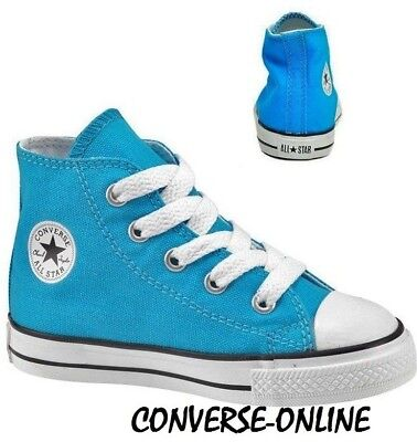 KIDS Infants Boys Girl CONVERSE All Star BLUE HIGH TOP Trainers Boots SIZE UK 10