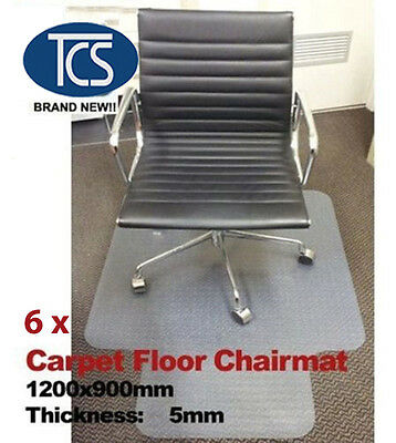 6 x New Carpet Floor Office Chair Mat Vinyl 1200 x 900mm 5mm including the spike