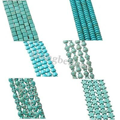 Lot Genuine Star Turtle Grimace SKull Heart Turquoise Spacer Loose Beads