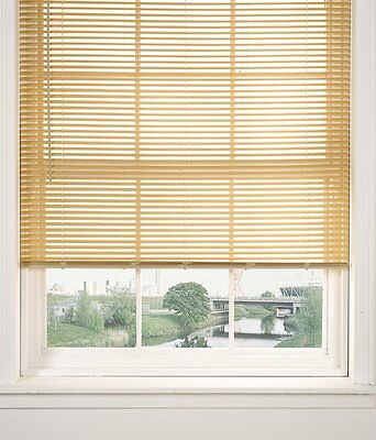 Window Blinds Pvc Venetian Blind Natural Wood Effect Bedroom Office Strong New