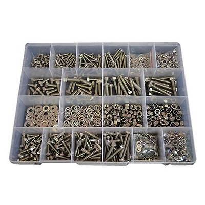 Kit Size 1300 Hex Bolt M5 M6 M8 Stainless Steel G304 Screw Nut Washer #277