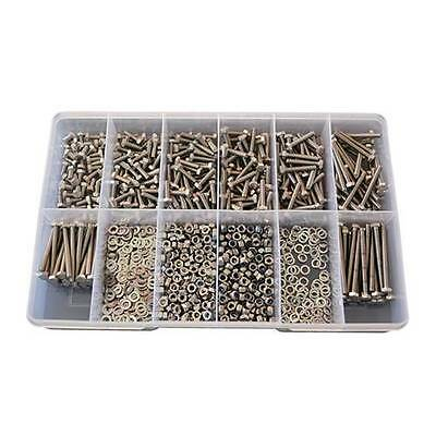 Qty 1020 Hex Bolt Kit M5 Stainless Steel 304 Nut Washer Set Screw SS #82