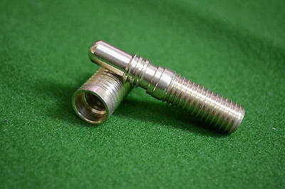 pool snooker cue M&F butt joint brass screw pin and socket - mini butt extension