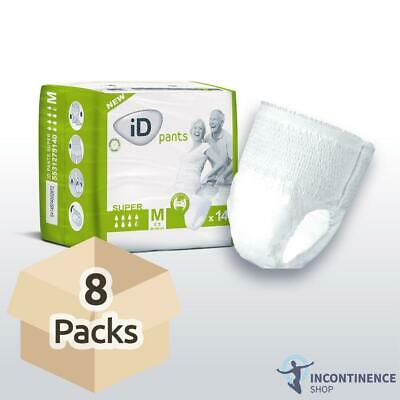 iD Pants Super - Medium - Case - 8 Packs of 14 Incontinence Pants