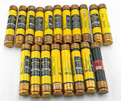 Lot Of 19 Cooper Bussmann Low Peak Fuses Lps-Rk-35Sp Lpsrk35Sp 35 Amp