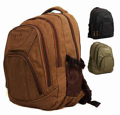 High Quality Canvas Mens Womens Travel Cabin Backpack Rucksack Bag Hand Luggage