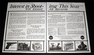 1920 Old Magazine Print Ad, Remington Arms, Interest In Shooting Exceeds Record!
