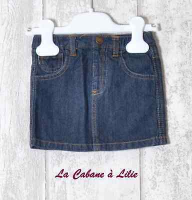 ♥ Jupe Jeans Bleu Marron Or KITCHOUN 6 Mois ♥ F207