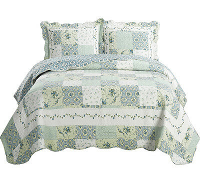 Luxury Brea Coverlets Quilted Set  Wrinkle Free Microfiber