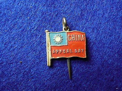 2/- Australian China Appeal Day Badge 1945 WWII Pin