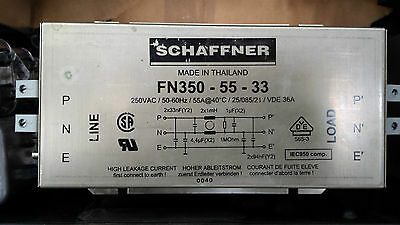 Schaffner Fn350-55-33 Motor Drive Single Phase Emc Fri Filter ((In11S2)