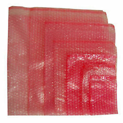 100 x Pink Anti-Static Bubble Wrap Bags Pouches (With Self Seal Flap)