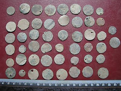 Ancient Ottoman Empire   Lot of 50 Mangir Coins   Sultan Suleyman II  12227