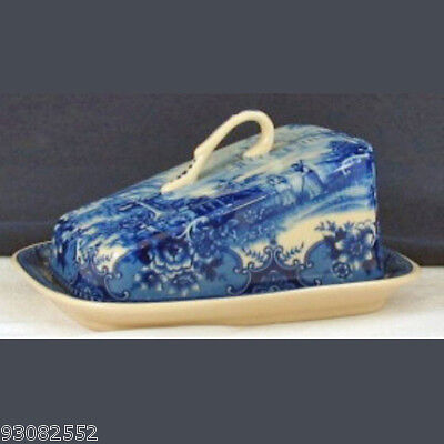 Porcelain Butter, Cheese Dish - Blue & White Design by Somerton Green - kitchen