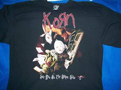 Korn See You Other Side Shirt Embroidered Sewn Rock & Death FREE US Shipping