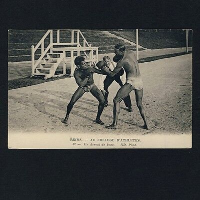 France Reims BOXING BOXEN BOXER Athletes * Vintage 1920s PC / AK Gay Int ?