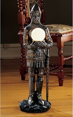 """31"""" Medieval History Knight in Search of the Holy Grail Gothic Flair Floor Lamp"""