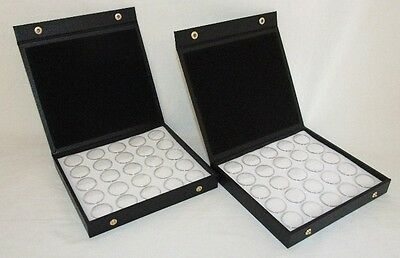 2 Pack Gem Storage Textured Top Cases With 25 Jars Each (White Foam)