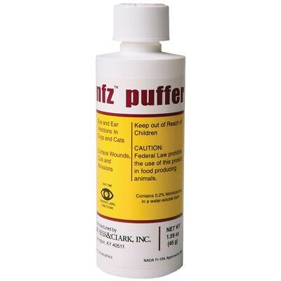 NFZ Puffer Nitrofurazone animal wound care Ear and Eyes Infections Dogs & Cats