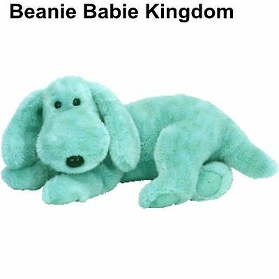 "Ty Beanie Buddy * DIDDLEY * The Green Dog 13"" Long"