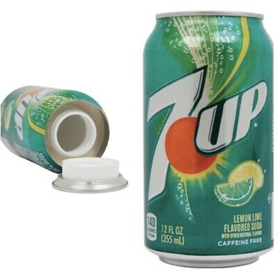 Cherry 7up Can Diversion Safe Hidden Home Security Secret Stash Hide Cash Jewel