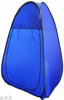POP UP CHANGING ROOM TENT, CAMPING ,PORTABLE OUTDOOR , SHOWER,+ CARRY BAG Blue