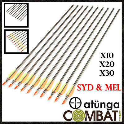 """30"""" Aluminium Arrows For Compound Or Recurve Bow Target Archery Hunting"""