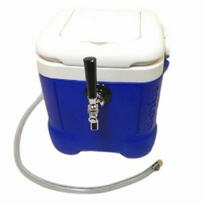 NYBS Mini Jockey Box Cooler, Single Faucet, 50' Stainless Steel Coil 12qt