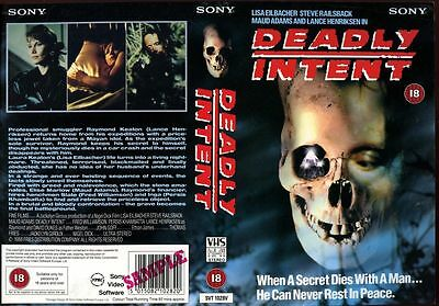 Deadly Intent, Sony, VHS Promo Sample Sleeve/Cover #8067