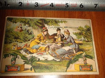 BT040 Vintage Victorian Card Advertising Lilly Brand Pickles