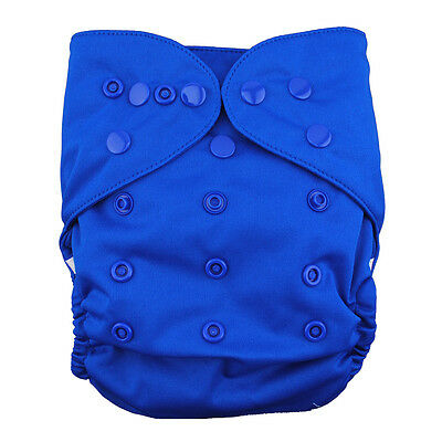 ALVA Baby Colored Snaps Waterproof PUL Cloth Diaper Cover With Double Gussest