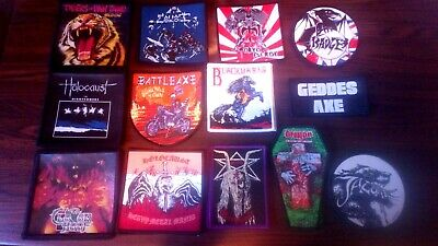 Tygers of Pan Tang.Blitzkrieg.Diamond Head.Witchfynde.Holocaust NWOBHM Patches