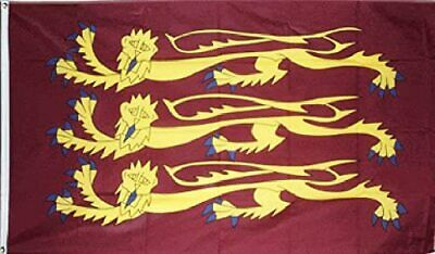 Three Gold Lions - Royal Banner of England  5' x 3' Flag