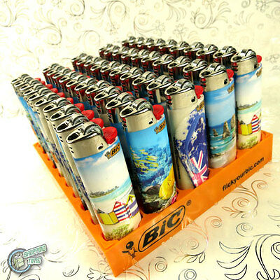 50 BIC TATTOO LIGHTER Ocean Side Cigarette Tobacco Maxi Big J26 Cigar Large C