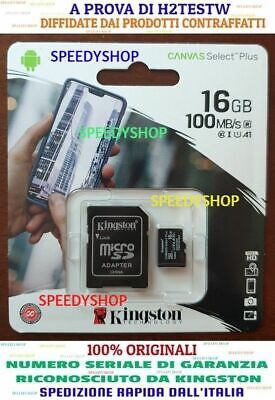 KINGSTON Micro SD 16 GB classe 10 MICROSD 80 MB/S Canvas SCHEDA MEMORIA