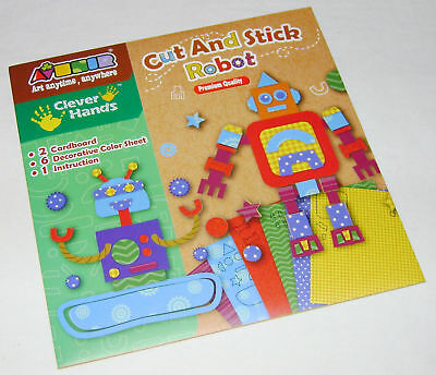 New Cut And Stick Robots Creative Card Picture Collage Craft Kit Ackerman