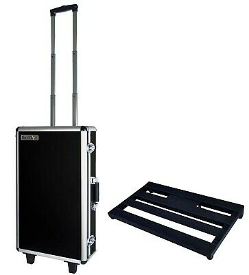Joyo RD1+RDB2 Pedal Case with Trolley Wheels + Pedal Board/Rack - New