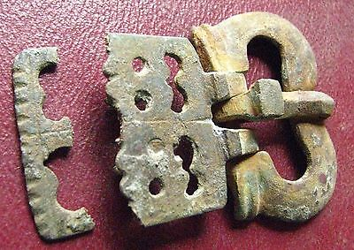 Authentic Ancient Lake Ladoga BYZANTINE Artifact > Bronze BELT BUCKLE   E3-1