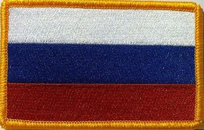 Russian Federation Flag  Iron-On Patch Russia Military Emblem