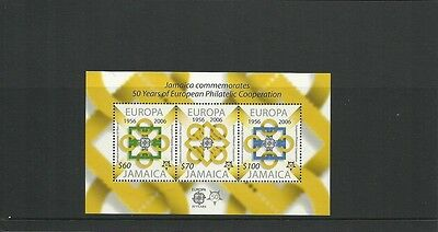 Jamaica Sgms1082 50 Years Of European Philatelic Cooperation Minisheet Mnh