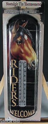 Riders Welcome (Horse) Tin Thermometer, Apo And Fpo Welcome