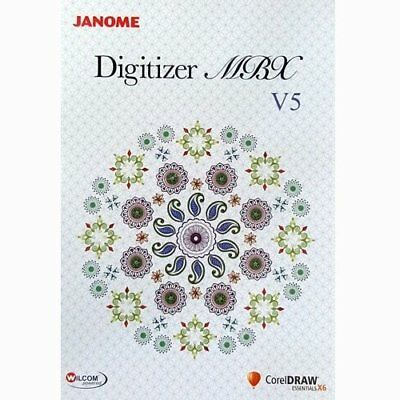 Janome Digitizer MBX Embroidery Software V5.0, Memory Craft, Monogramming, DVD