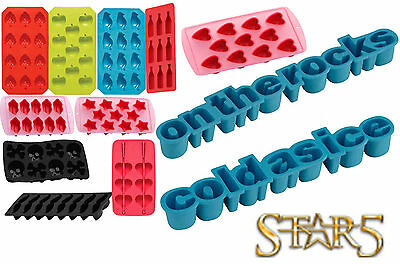 Silicone Non Stick Ice Cube Chocolate Jelly Sweet Candy Maker Moulds Trays TPR