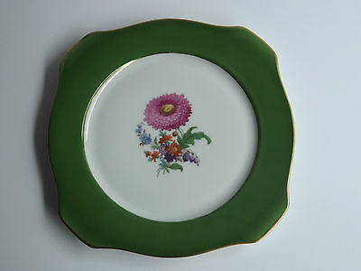 Antique Floral Bavaria Tirschenreuth Collector's Plate Square 8 inches