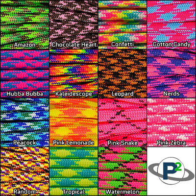 Paracord tie down rope bright outdoor parachute cord Mil Spec Type III 7 Strand