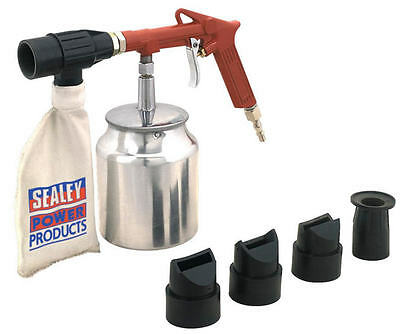 Sealey Air Recirculating Sand/Shot Blasting Kit Grit +4 Nozzles Stone Chip SG10E