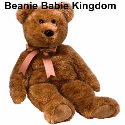 "Ty Beanie Buddy * CASHEW * The Brown Teddy Bear Buddie 14"" Tall"