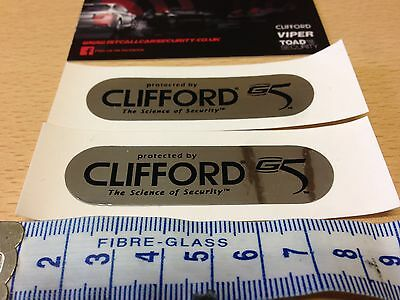 New Clifford G5 concept 650 MK11 Car Alarm Window replacement Stickers x 2