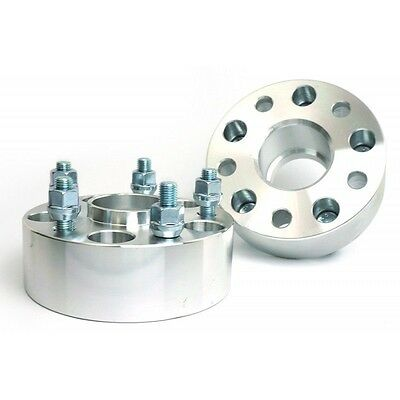 2 Pcs Wheel Spacers Adapters 5X100 To 5X100   54.1 CB   12X1.5   50MM 2 Inch